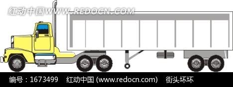 大卡车 集装箱 eps素材