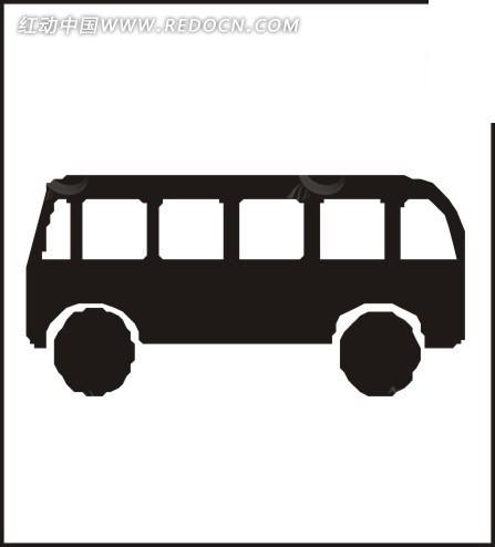 客车的剪影