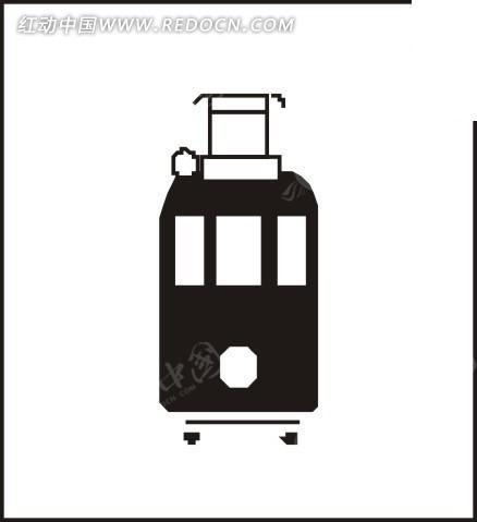 手绘蒸汽火车图标矢量图免费下载