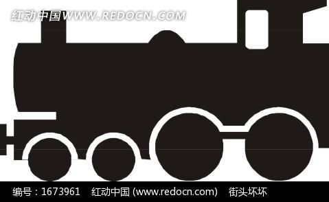 蒸汽火车头剪影 火车头  eps素材 矢量 矢量素材 插画 卡通 交通工具