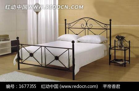 地中海风格铁艺框架双人床3dmax模型免费下载 家具模型素材图片