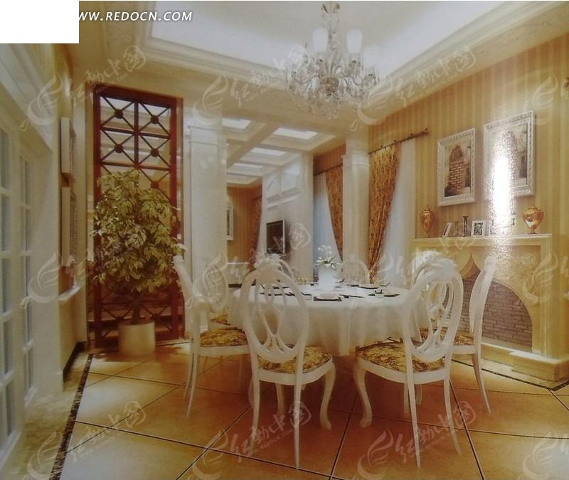 精致欧式典雅餐厅 里的餐图片