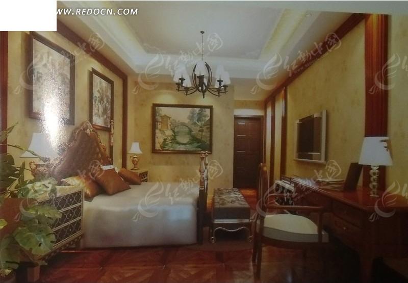 欧式小型卧室设计效果图