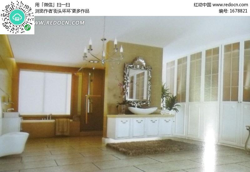 欧式的卫生间_室内设计图片