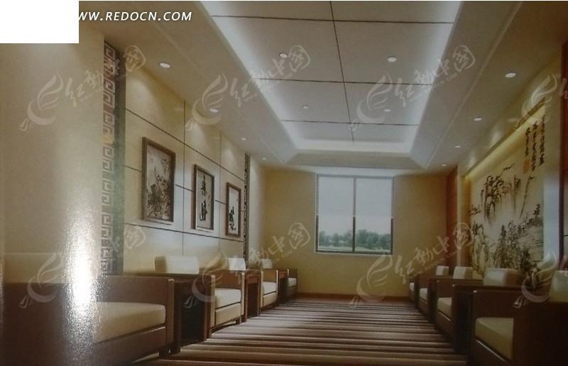 精装修会客厅3d效果图