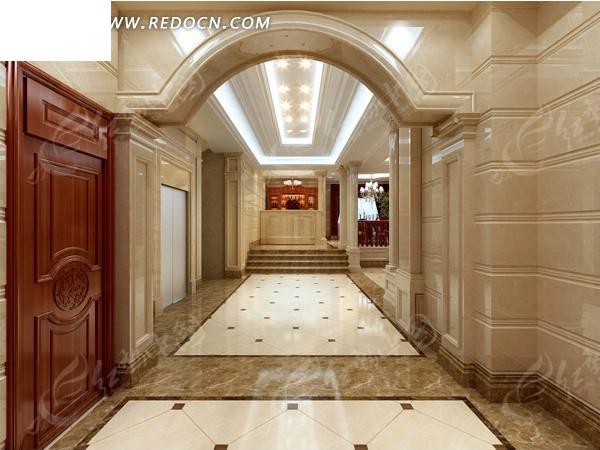 别墅华丽走廊设计效果图