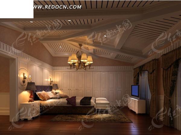 欧卧室3dmax模型