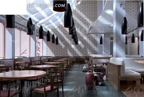 餐厅室内装修设计效果图3dmax素材免费下载_红动网图片