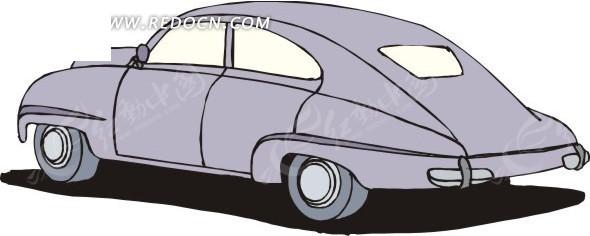 紫色小轿车手绘素材