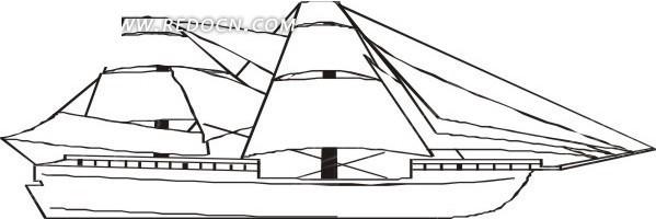 船 交通工具 卡通画 插画 手绘 矢量素材 卡通形象 科技图片