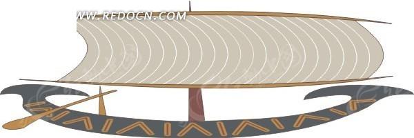 手绘古典帆船