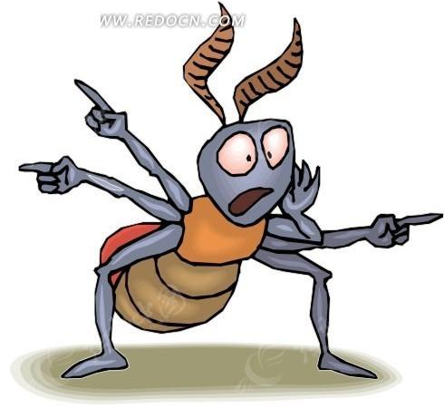 手绘呼朋引伴的蚂蚁
