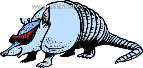 免费素材 矢量素材 矢量人物 卡通形象 手绘戴眼镜的食蚁兽  请您分享