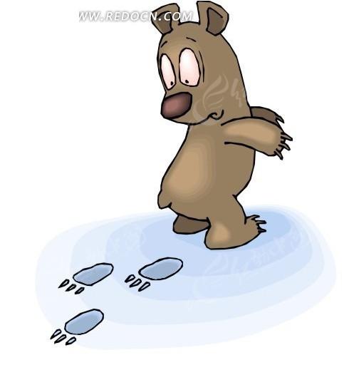 卡通动物 卡通画 插画