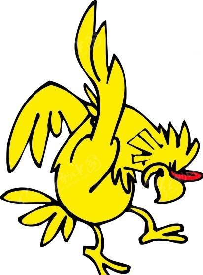 黄色录像鸡大巴_儿童画一只黄色的鸡