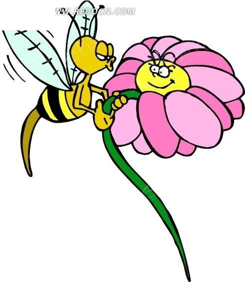 花朵和蜗牛问题解决蜜蜂图片