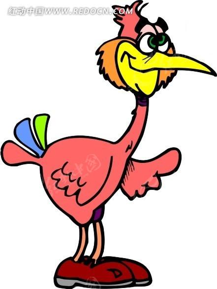 挥动翅膀的小鸟矢量图其他免费下载