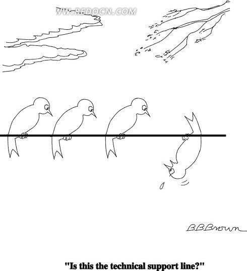 电线上的一排小鸟其他素材免费下载 编号1683355 红动网