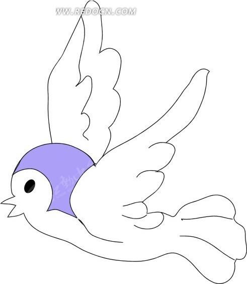 鸟 小鸟 卡通动物 卡通画 插画 手绘 矢量素材 动物图片 卡通形象