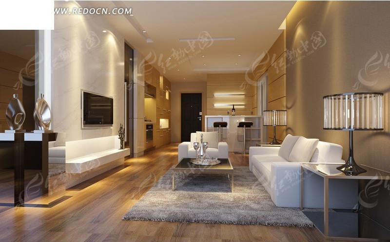 免费素材 3d素材 3d模型 室内设计 现代客厅效果图设计  请您分享