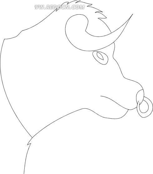 简笔画牛头其他素材免费下载 红动网