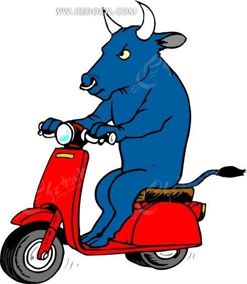 免费素材 矢量素材 生物世界 空中动物 骑电动车的牛  请您分享: 素材