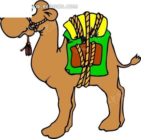 骆驼 卡通动物 卡通画