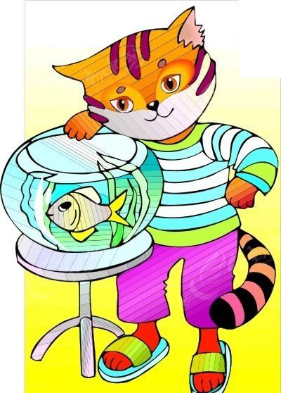 鱼缸 金鱼简笔画 鱼缸里的金鱼简笔画