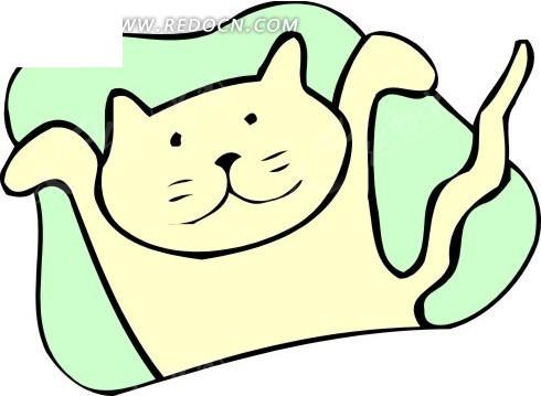 儿童简笔画黄色的猫