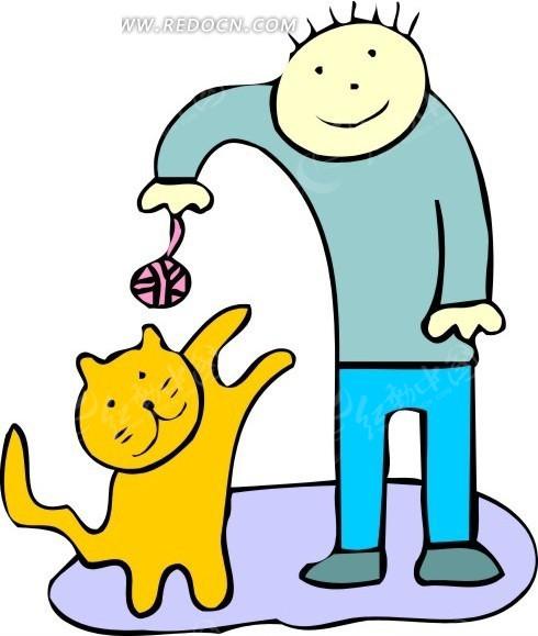 卡通猫咪走路动图