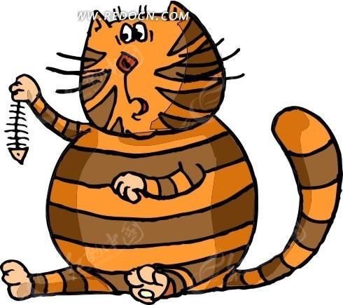 猫 猫咪 卡通画 卡通动物 插画 手绘 矢量素材 动物图片 卡通形象