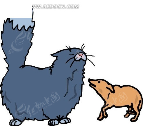 卡通画医生打扮的猫_陆地动物_红动手机版