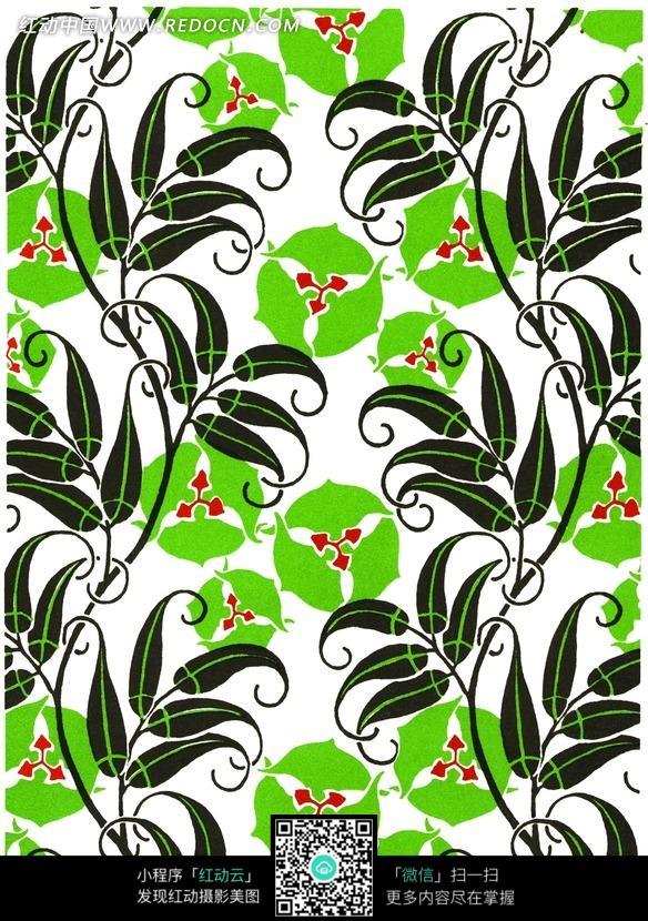 绿色 花朵 花藤 藤蔓 花纹 花纹素材 花边 花边素材 底纹 背景素材