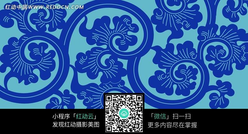 蓝色花朵简笔画