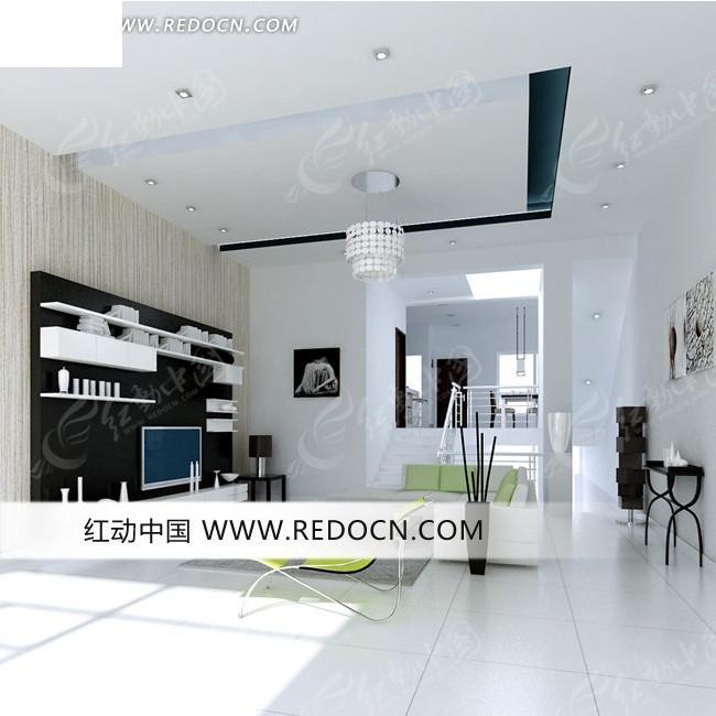 免费色调3d素材3d素材室内设计黑白模型创意客厅设计效果图钱月多少一个设计图片