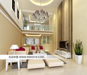 豪华现代风格客厅装饰设计3D模型素材
