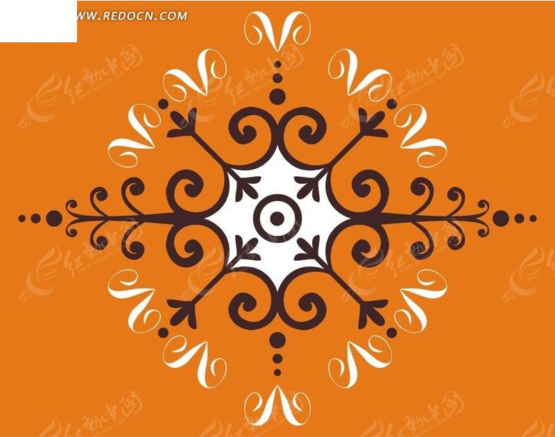 创意精美 中间对称 性 图案 设计矢量图
