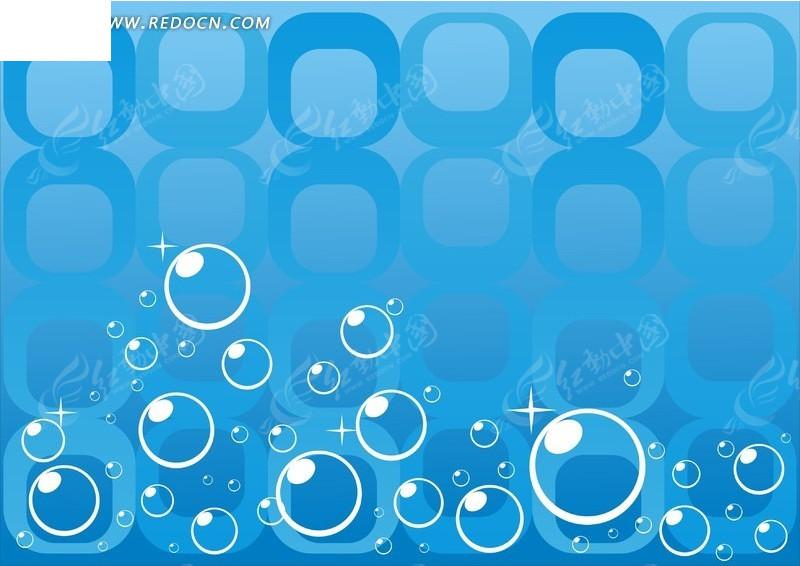 蓝色背景家具上的方框百变气泡手绘v蓝色图片