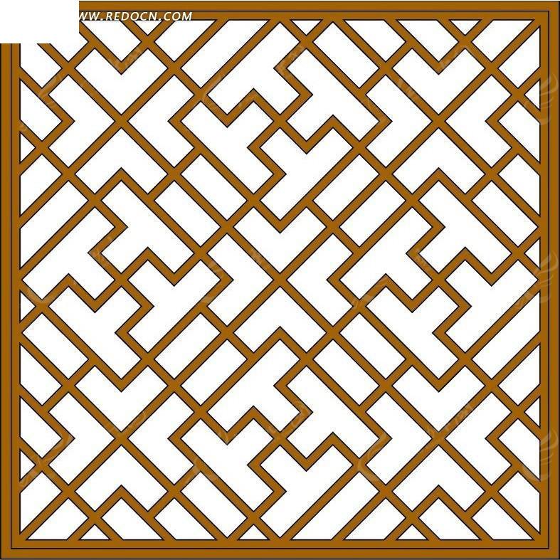 免费素材 psd素材 psd花纹边框 边框相框 传统的古代窗户图案psd分层
