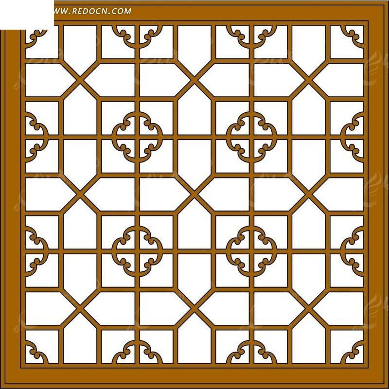 免费素材 psd素材 psd花纹边框 边框相框 经典的中国风窗户造型psd