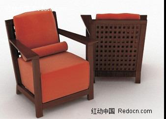 实木中式古典木架沙发