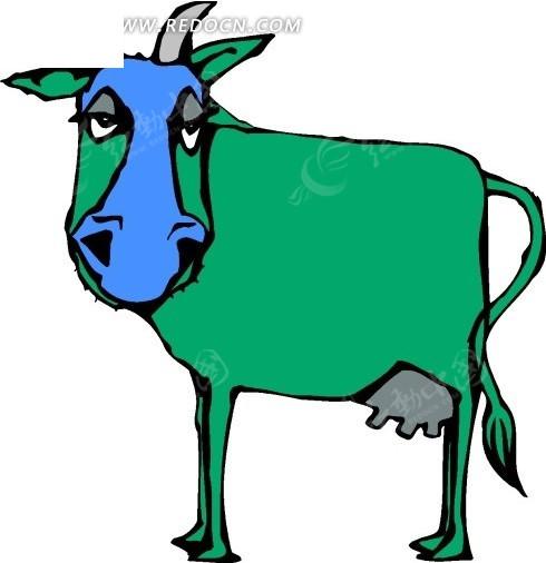 牛 卡通动物 卡通画 插画 手绘 矢量素材 动物图片 卡通形象 免费下载