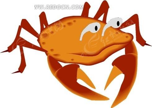 儿童手绘一只螃蟹