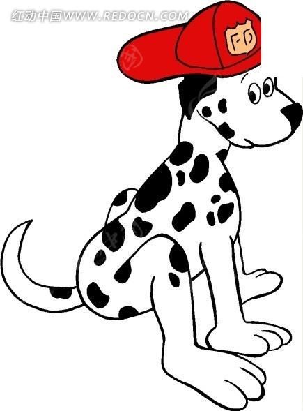动物插画—戴帽子的狗