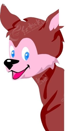 手绘插画一只可爱的小鹿