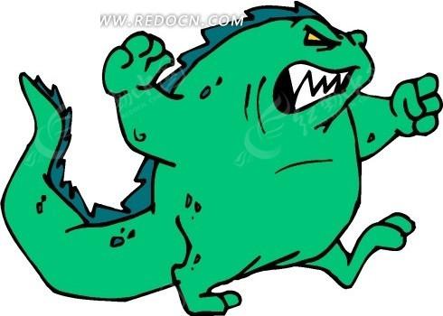 恐龙 卡通动物 卡通画