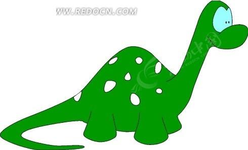 儿童手绘可爱的绿色小恐龙其他素材免费下载(编号)_红