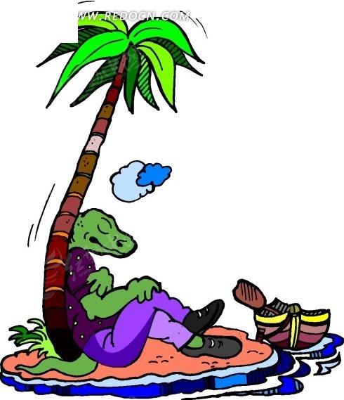 恐龙 卡通动物 卡通画 插画 手绘 矢量素材 动物图片 卡通形象 免费下