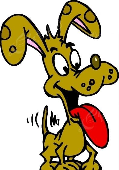 手绘素材伸出舌头的小狗图片