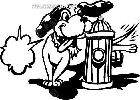 您当前访问素材主题是手绘在消防栓边上小便的小狗,编号是1693415